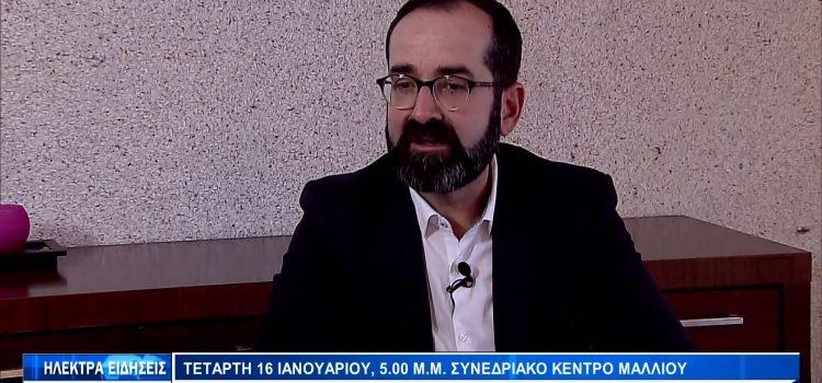 Συνέντευξη Μάρκου Λέγγα στο Δελτίο Ειδήσεων του Ηλέκτρα